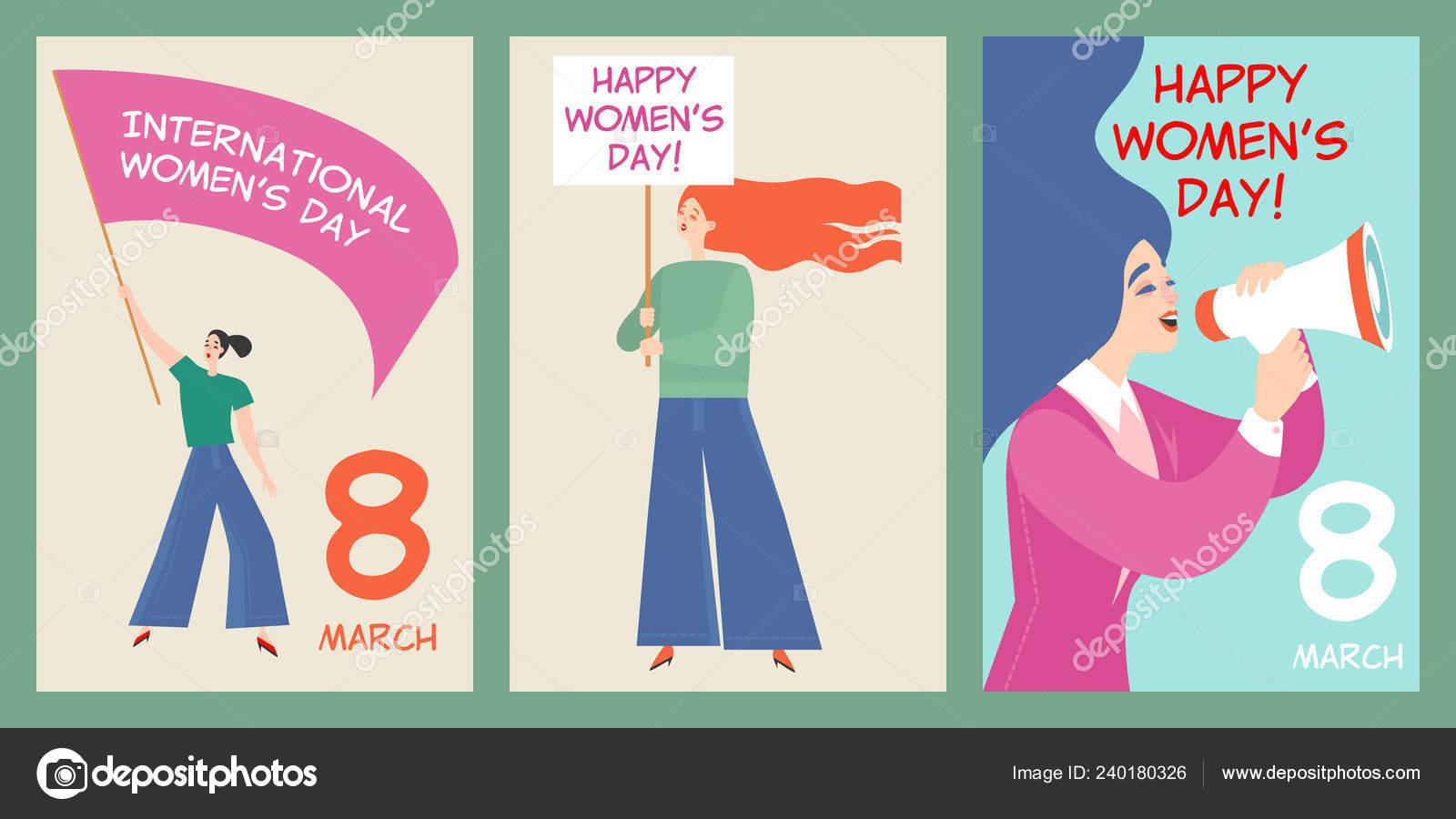 Ensemble Cartes Postales Pour Journée Internationale Des