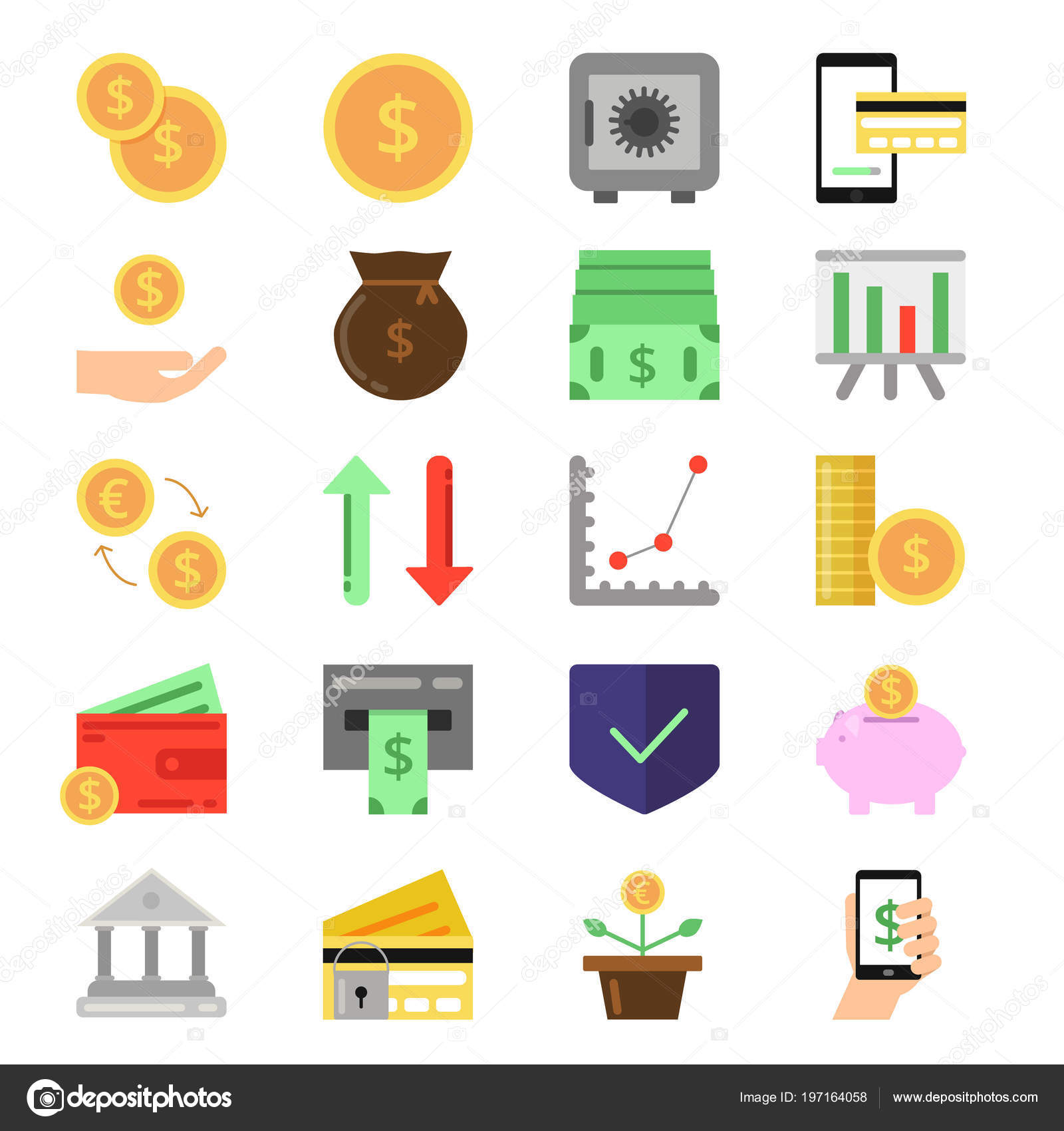 Business And Finance Icons Set B2c And B2b Symbols Pictures Of