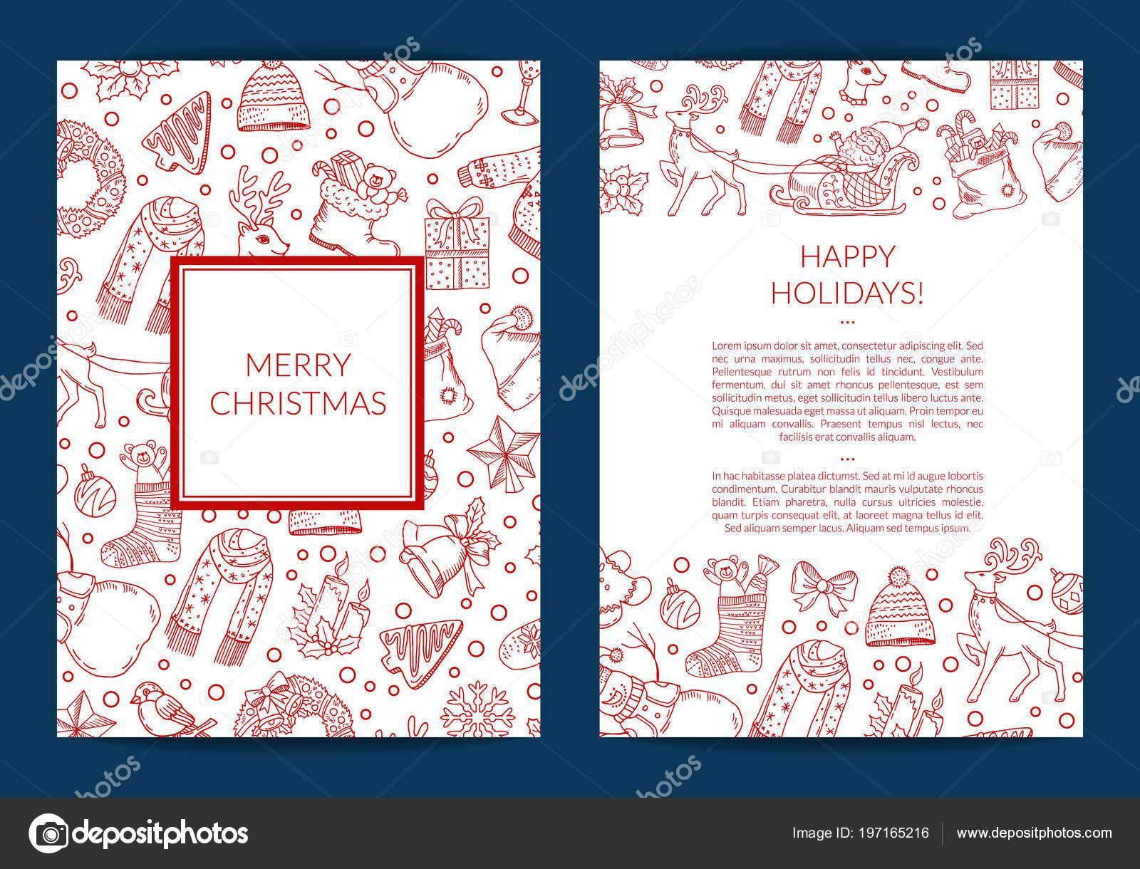 Asombroso Plantilla De Tarjeta De Lugar De Navidad Colección de ...