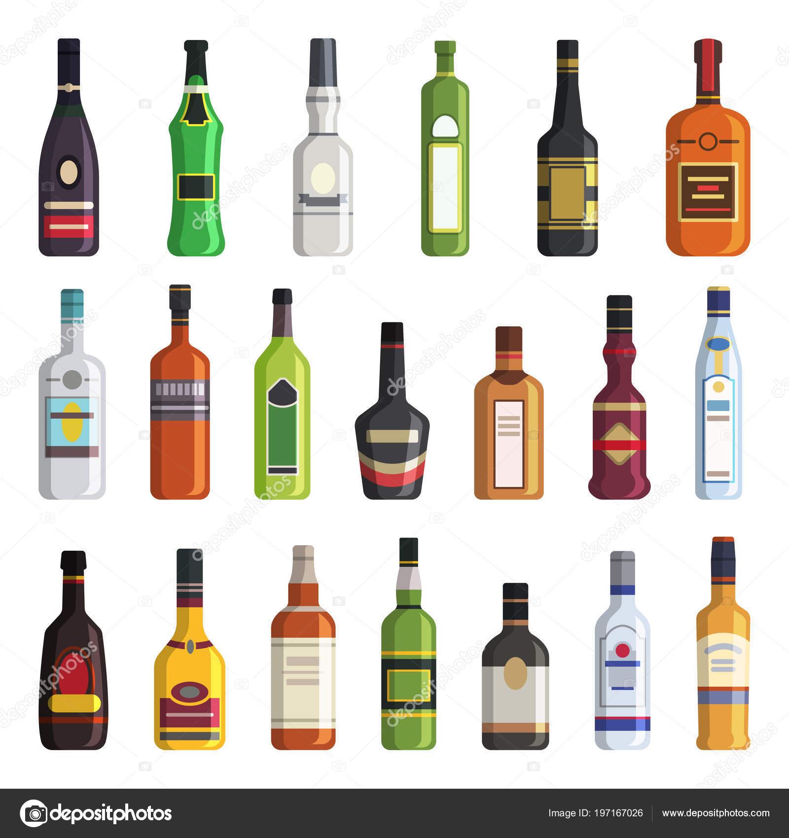 Likör, Whisky, Wodka und andere alkoholische Getränke-Flaschen ...