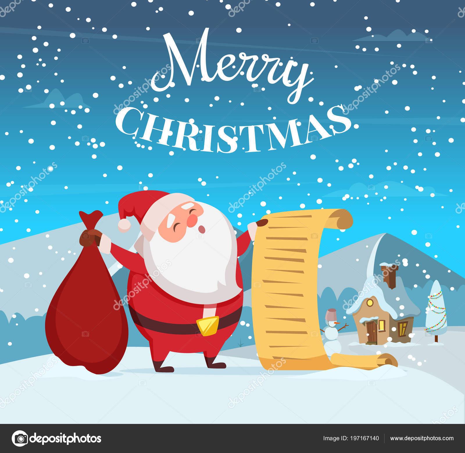 Foto Divertenti Di Buon Natale.Illustrazione Di Priorita Bassa Di Buon Natale Con Babbo Natale