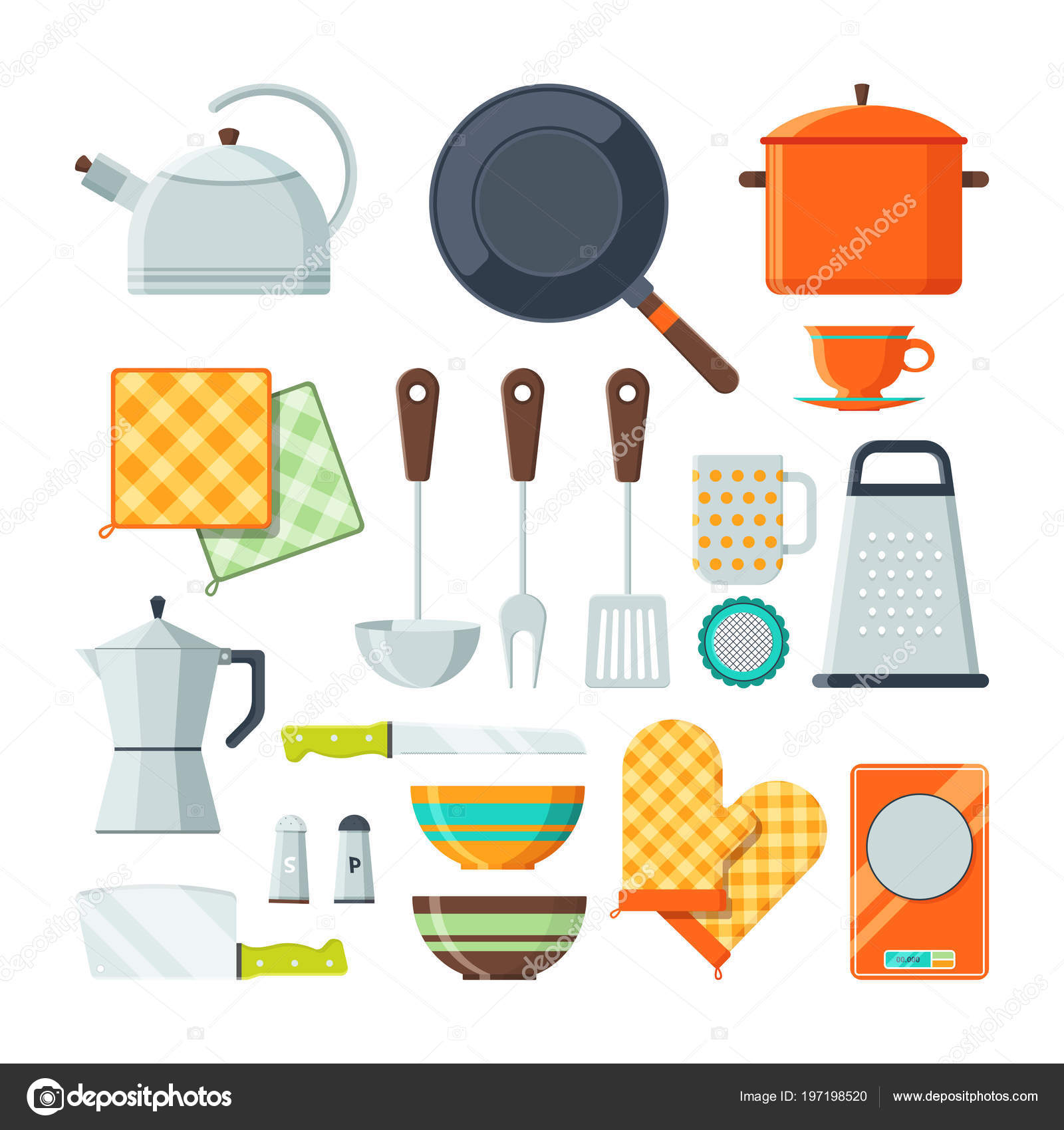 kitchen utensils vector. Kitchen Tools For Cooking. Vector Cartoon Illustrations Isolate \u2014 Stock  Kitchen Utensils Vector 0