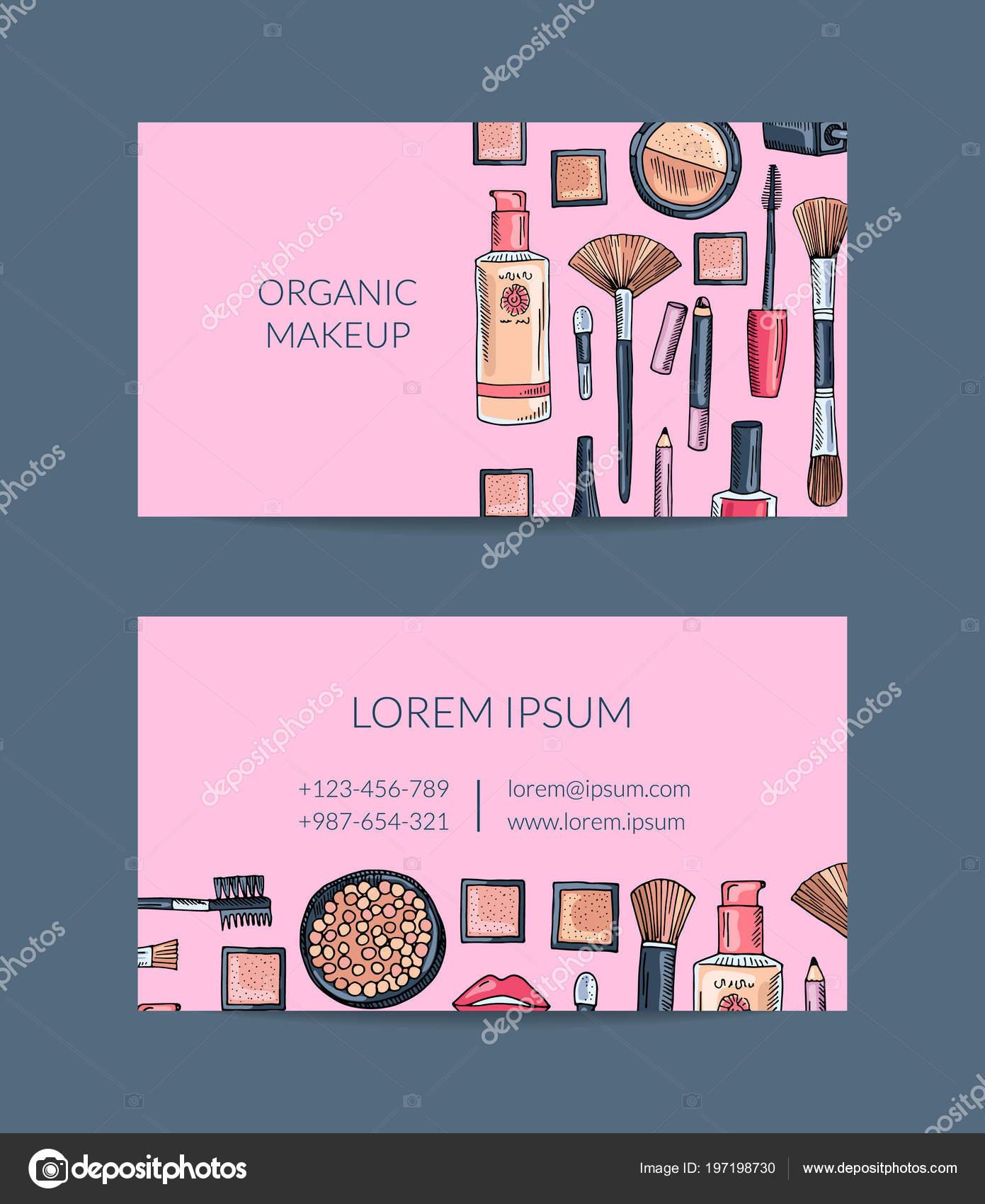 Vector Visitenkarte Vorlage Für Beauty Marke Oder Make Up