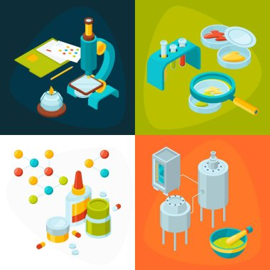 Concept pictures set of medicine and pharmacology industry