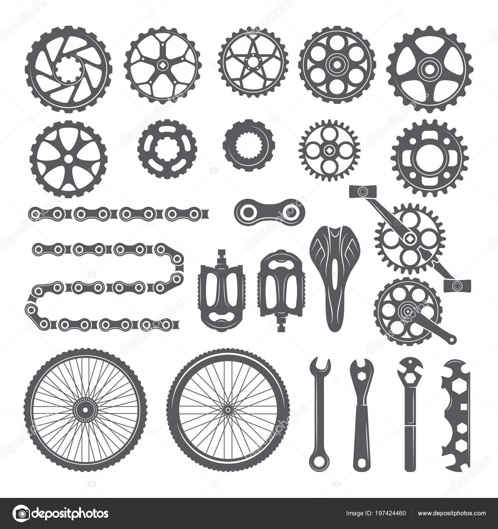 Ingranaggi Catene Ruote E Altre Diverse Parti Di Bicicletta