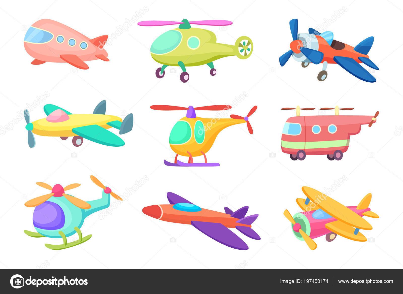 Kleine jongen cartoon exploitatie van een vliegtuig Clipart-afbeelding
