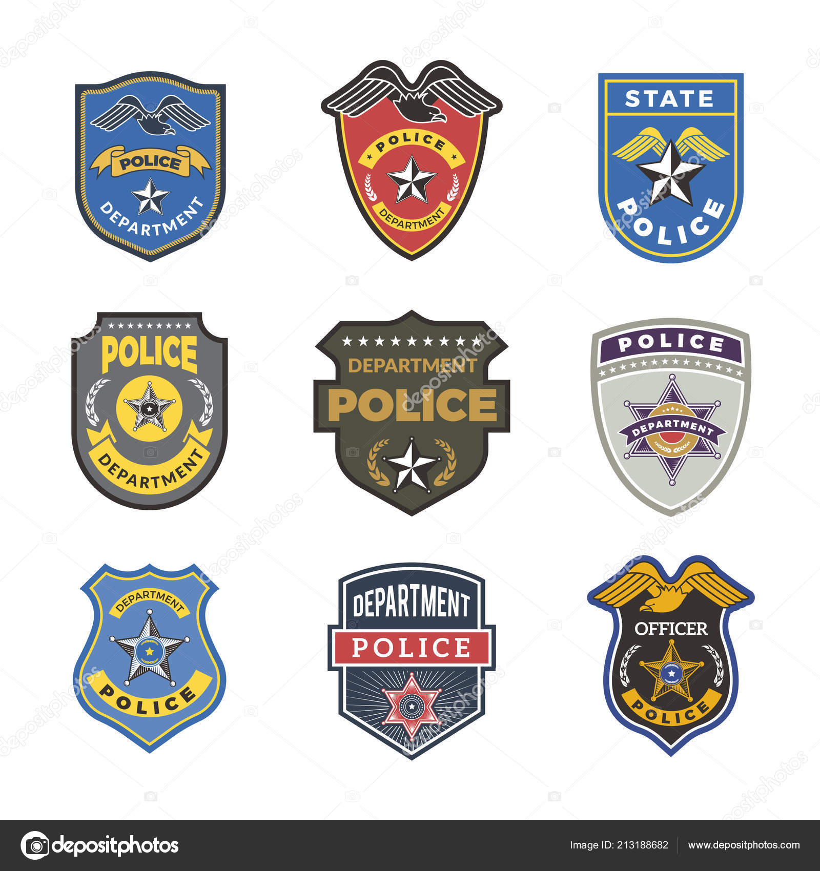 Police Badges Security Signs And Symbols Government Department