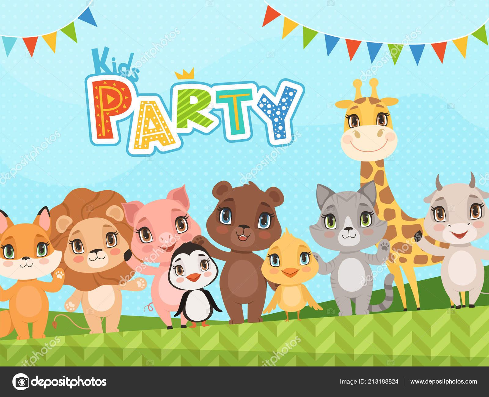 Baby Shower Animal Decorations Jungle Animals Background