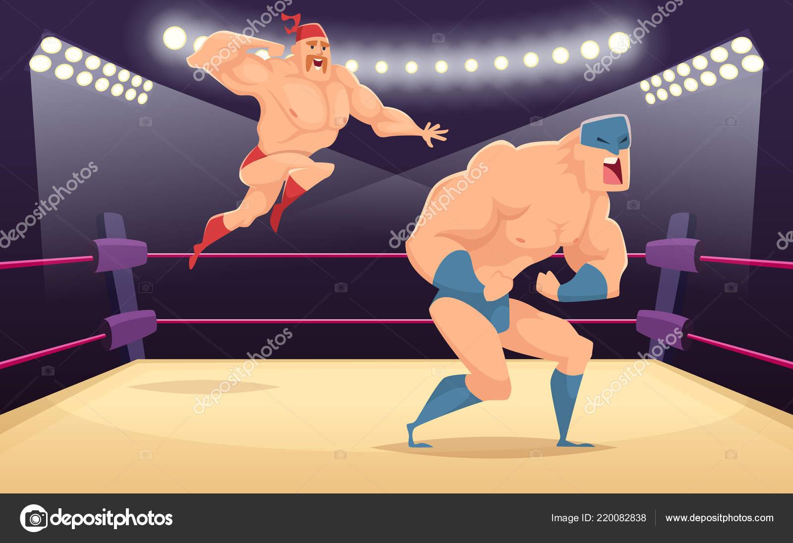 Fumetto di combattenti del lottatore marziale personaggi dei