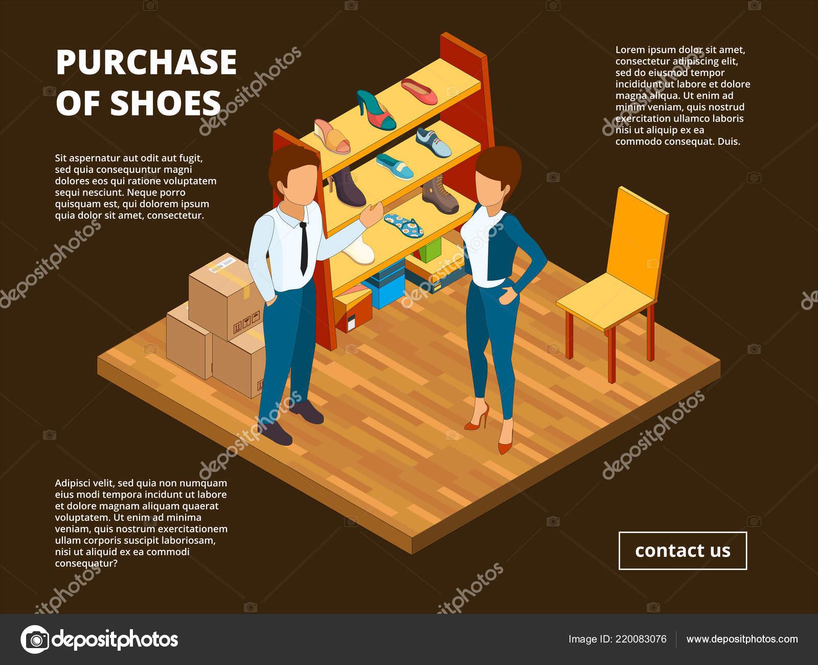 b68e494b0 Mercado do sapato de varejo. Loja loja de pé para vetor de roupas casual  interiores