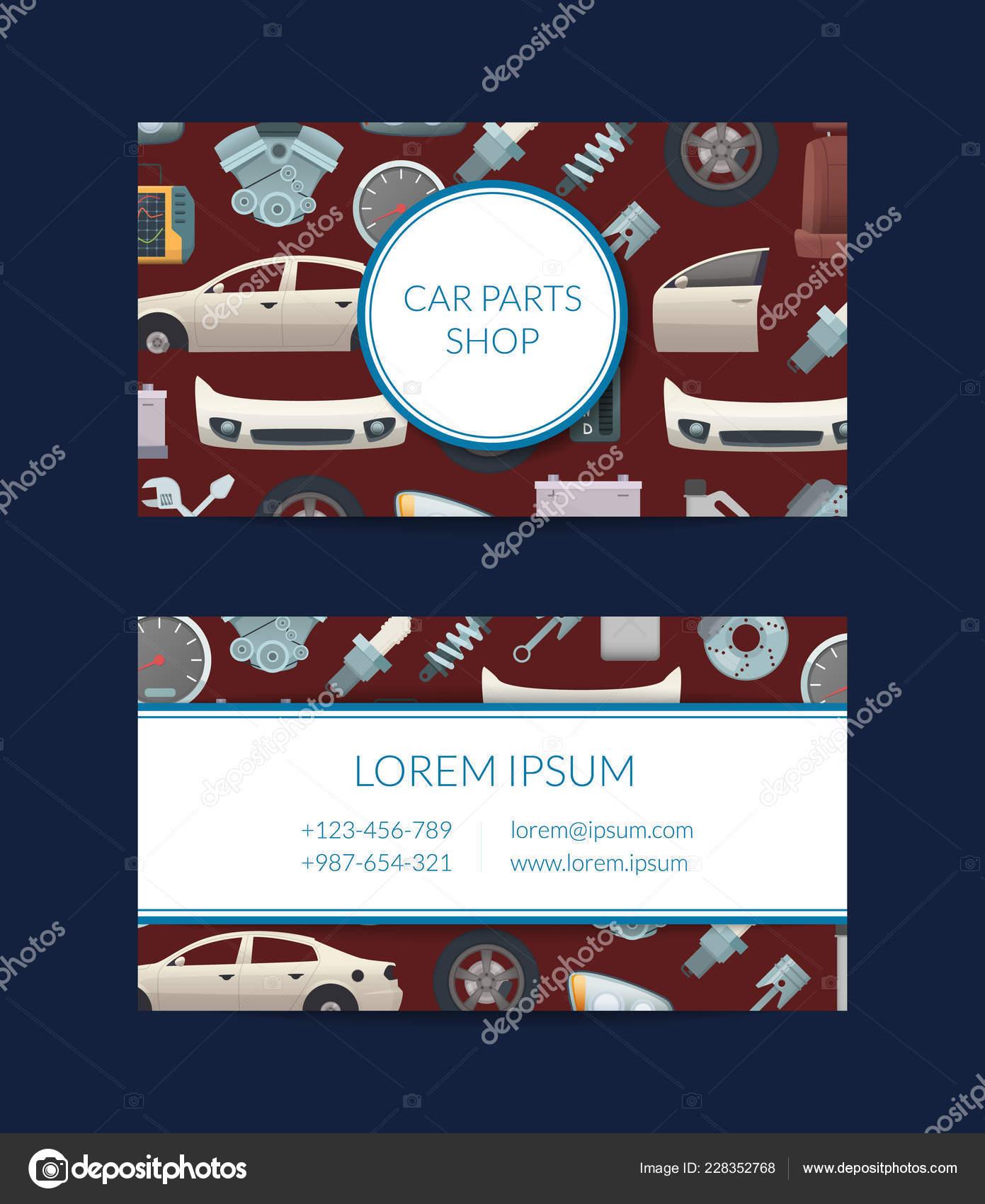 Auto Teile Visitenkarte Vorlage Vektorgrafik Stockvektor