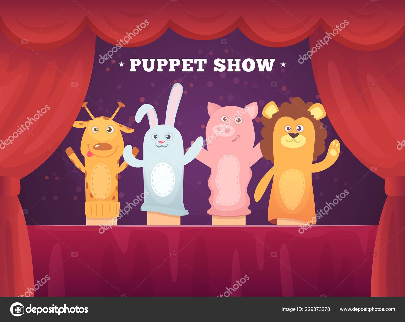 Spectacle De Marionnettes Spectacle De Théâtre De Rideaux