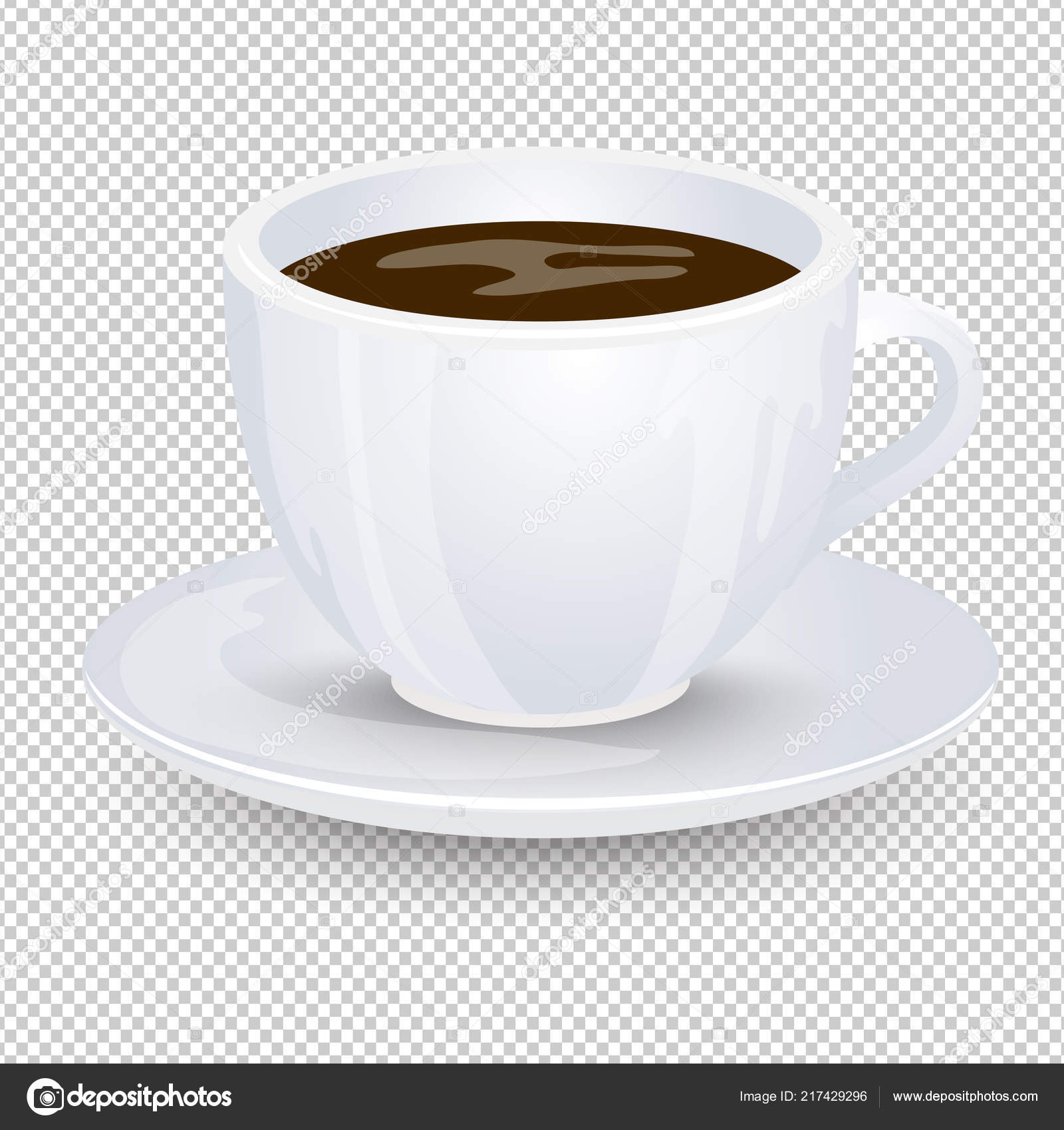 Classic Black Coffee White Cup Saucer Isolated Transparent Background Favorite Vector Image By C Anya Pic O Matic Ru Vector Stock 217429296