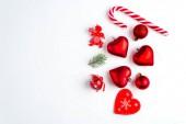 Vánoční dekorace kolekce: srdce, větve, vánoční cukroví, vánoční stromek koule andělský zvonek