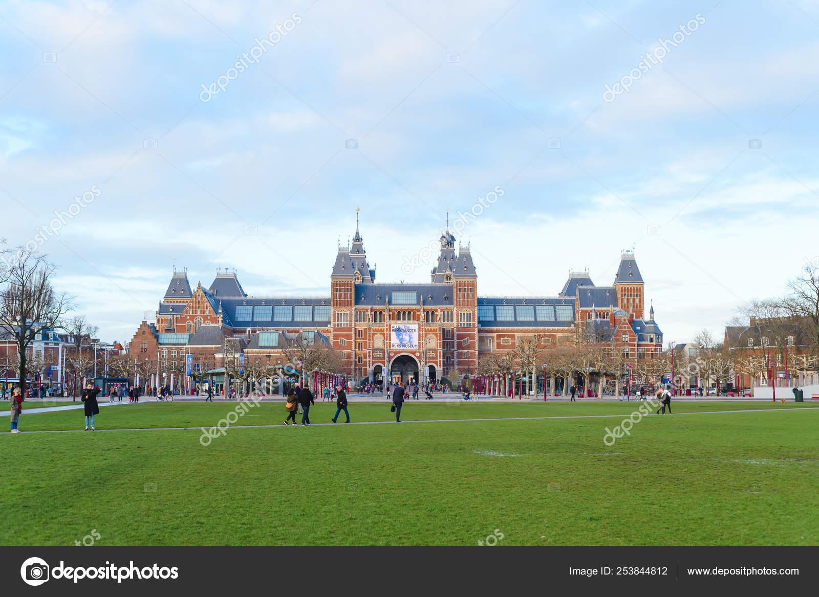 AMSTERDAM, NETHERLANDS - March 14, 2019: Rembrandt Exhibition in