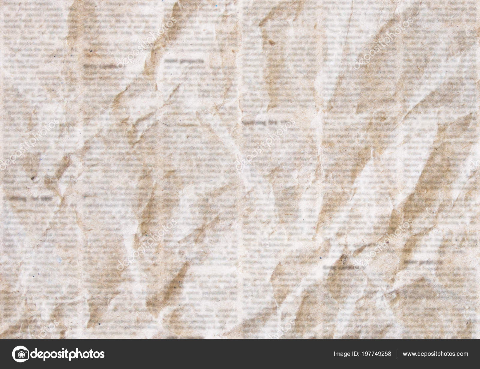 Fondo Papel De Diario Viejo Habían Arrugado Fondo Textura Grunge
