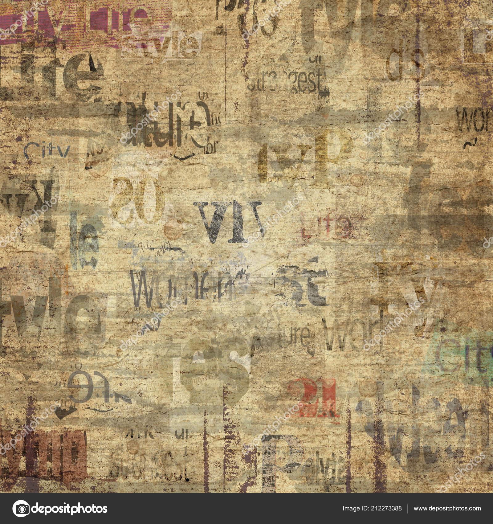 Papel Periódico Viejo Grunge Textura Fondo Cuadrado Textura Del
