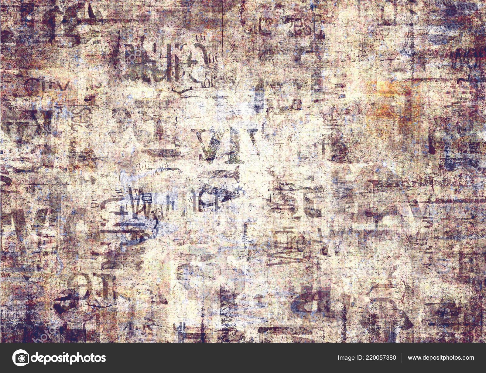 Papel Periódico Viejo Grunge Textura Fondo Horizontal