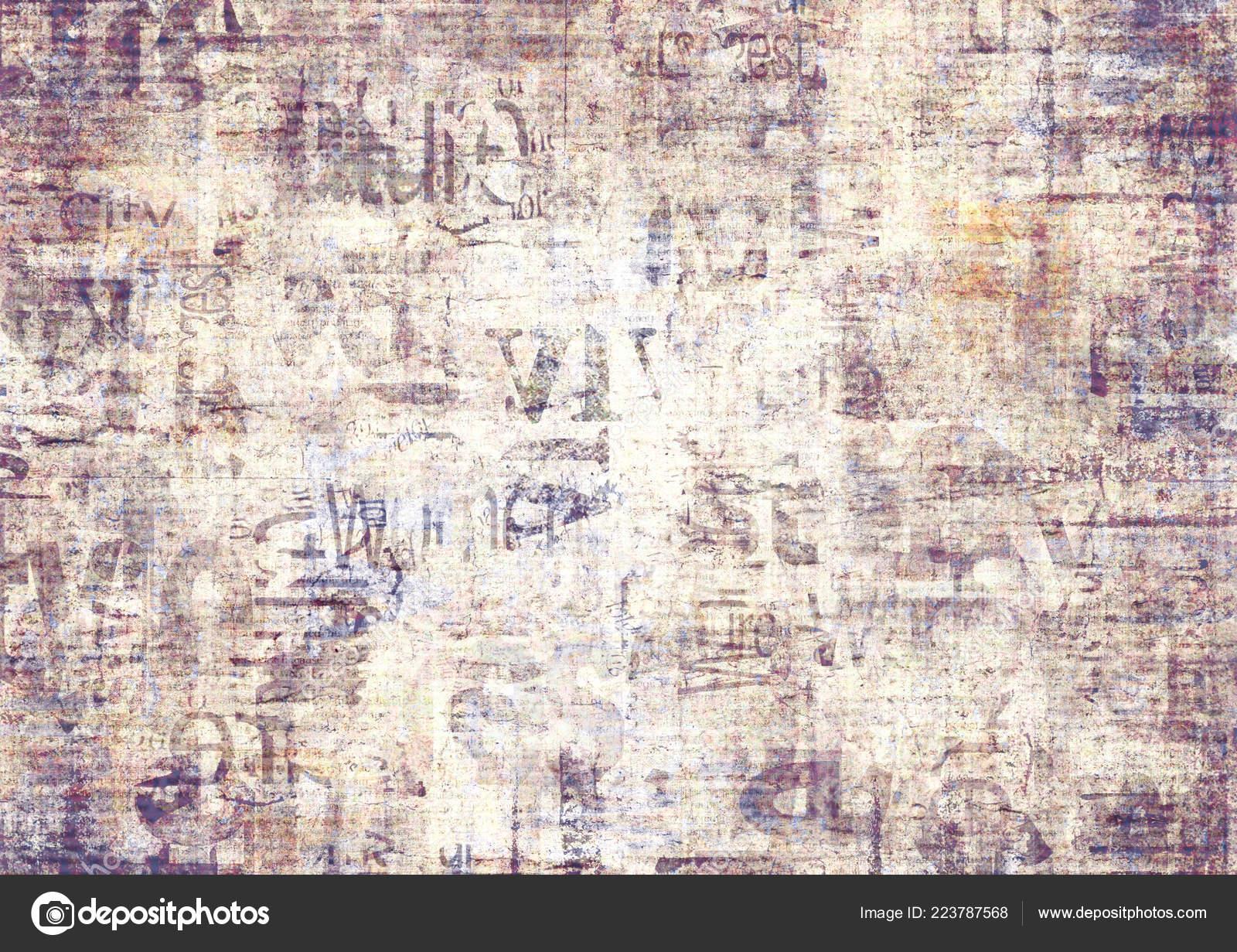 Papel Periódico Viejo Grunge Textura Fondo Horizontal Textura Del
