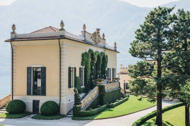 Lenno, Italy - July 08, 2017: View of Villa del Balbianello, Lake Como. The Villa was used as setting for several notable films, including Star Wars: Episode II and James Bond 007 Casino Royale.