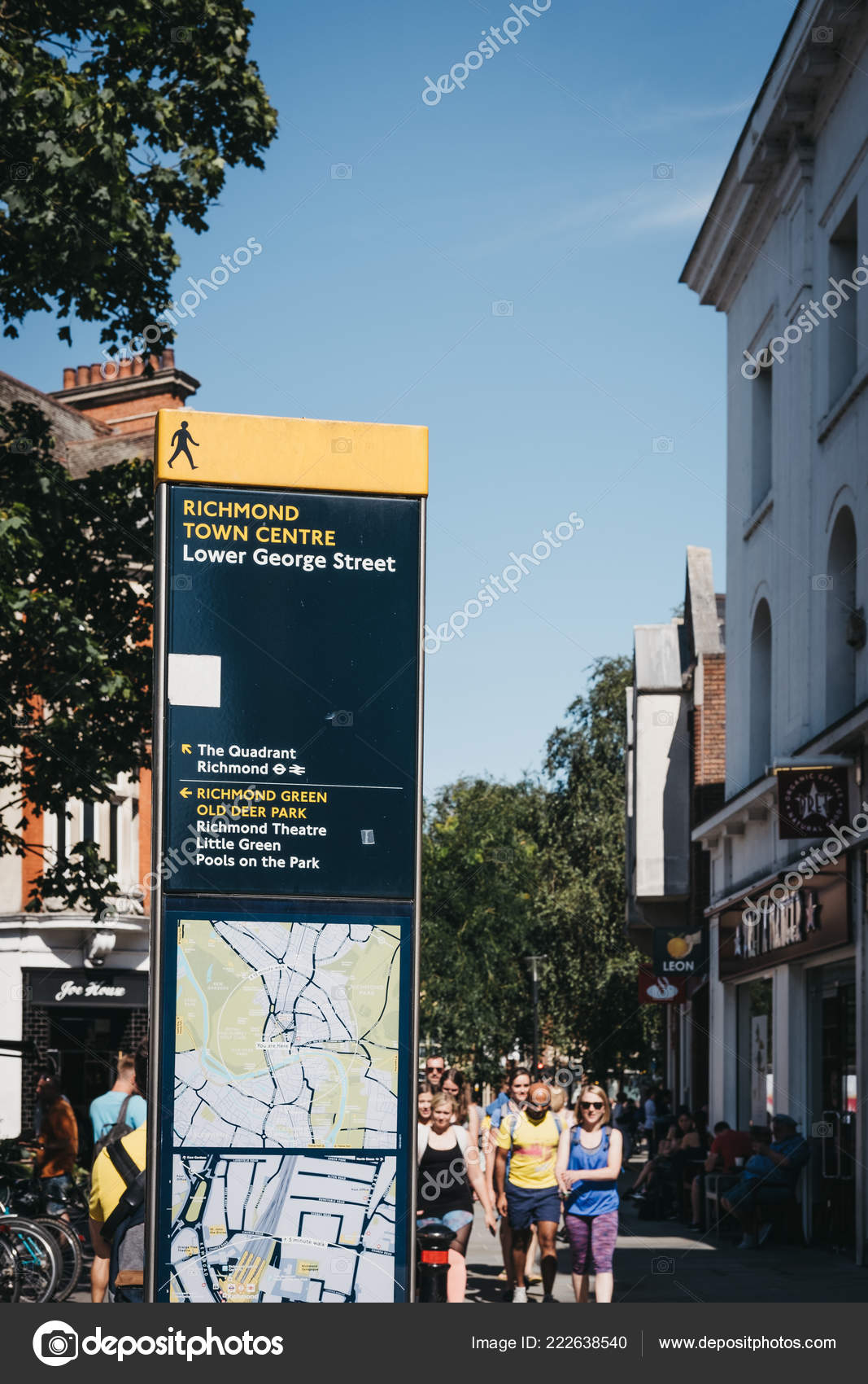 on direction map uk