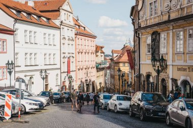 Prague, Czech republic - August 26, 2018: People walking in the Old Town in Prague, one of the oldest and the most beautiful district in Prague, Czech Republic.
