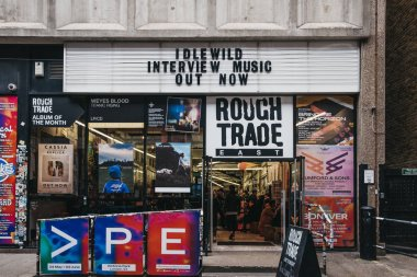 Exterior of Rough Trade music shop and venue in Brick Lane, East