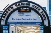London Bridge City Pier Eingang für mbna thames Clippers Boote