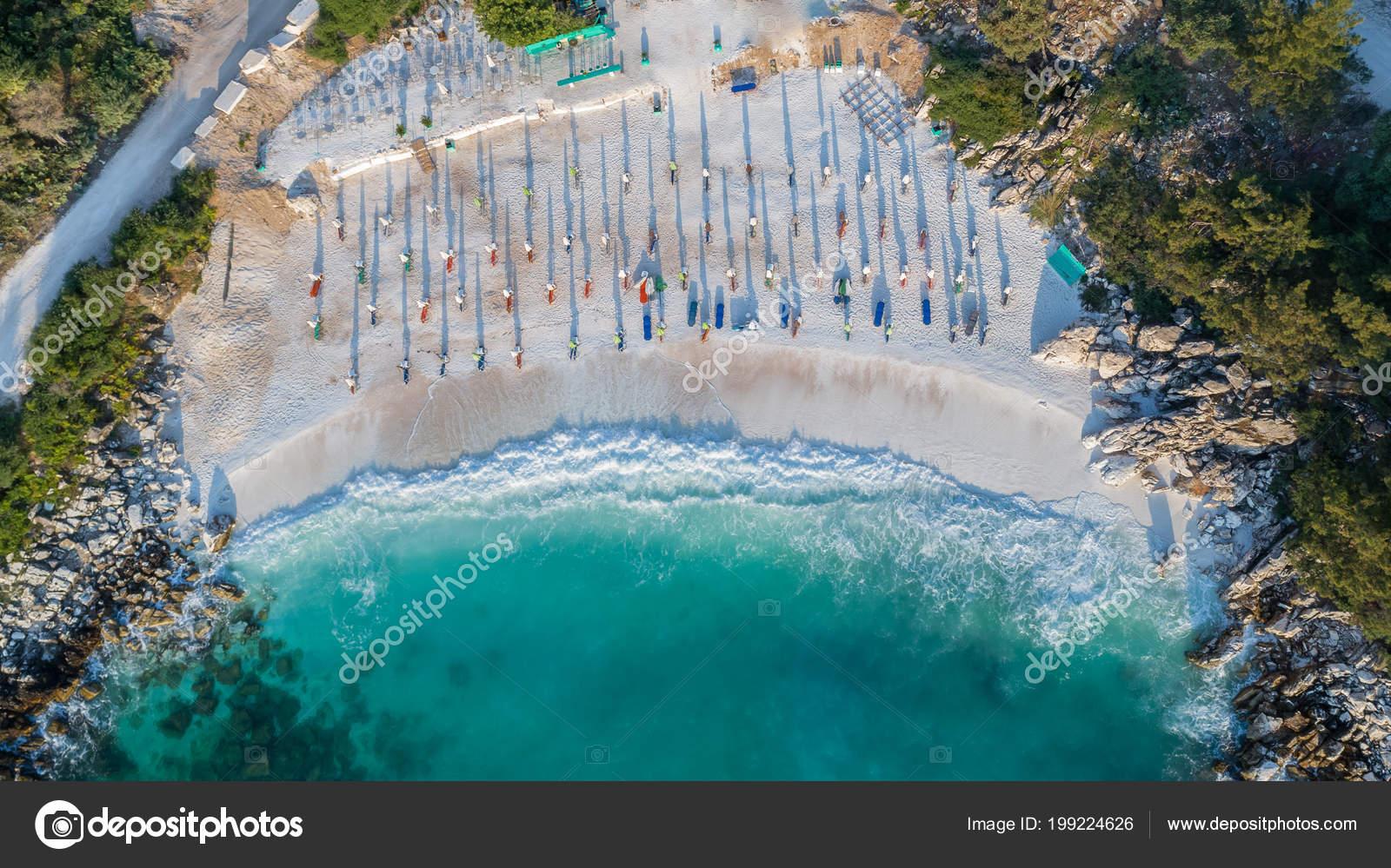 Marmor Strand Saliara Beach Inseln Thassos Griechenland Die