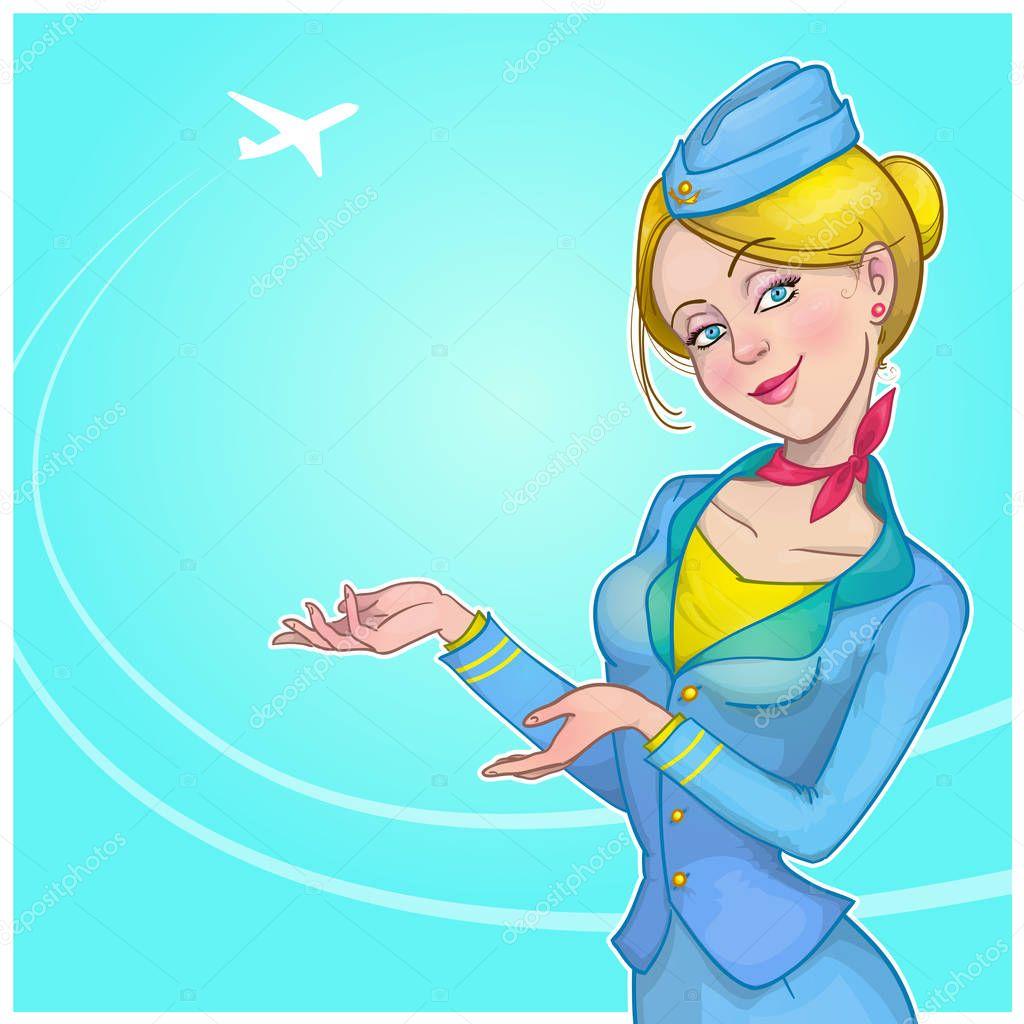 Праздником, картинка стюардесса анимация