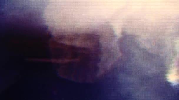 Mehrfarbige Vintage-Science-Fiction psychedelischen holographischen Hintergrund.
