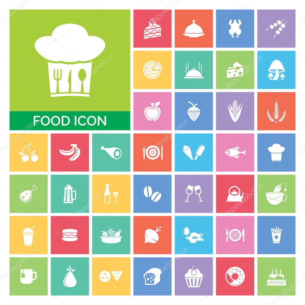Food icon Set. Very Useful Food icon Set Simple illustration. Icons Useful For Web, Mobile, Software & Apps. Eps-10. stock vector