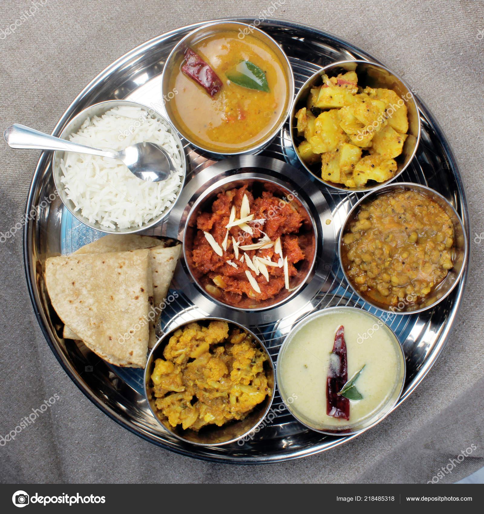 Delicious Healthy Indian Veg Food Thali Fulfill Vegetarian
