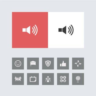 Creative Volume Icon with Bonus Icons.