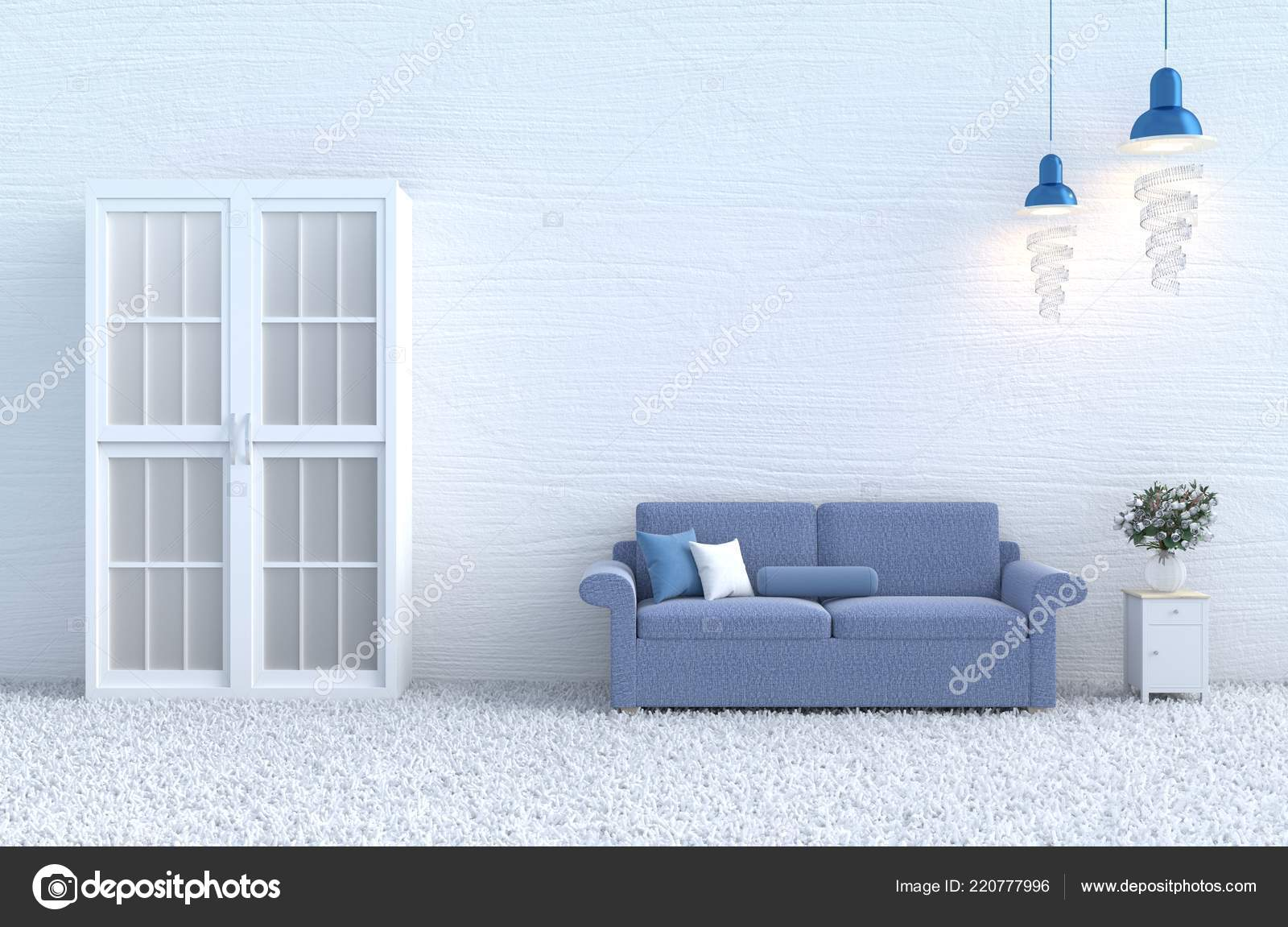 Swell White Living Room Decor Blue Sofa White Wood Wall Pillow Theyellowbook Wood Chair Design Ideas Theyellowbookinfo