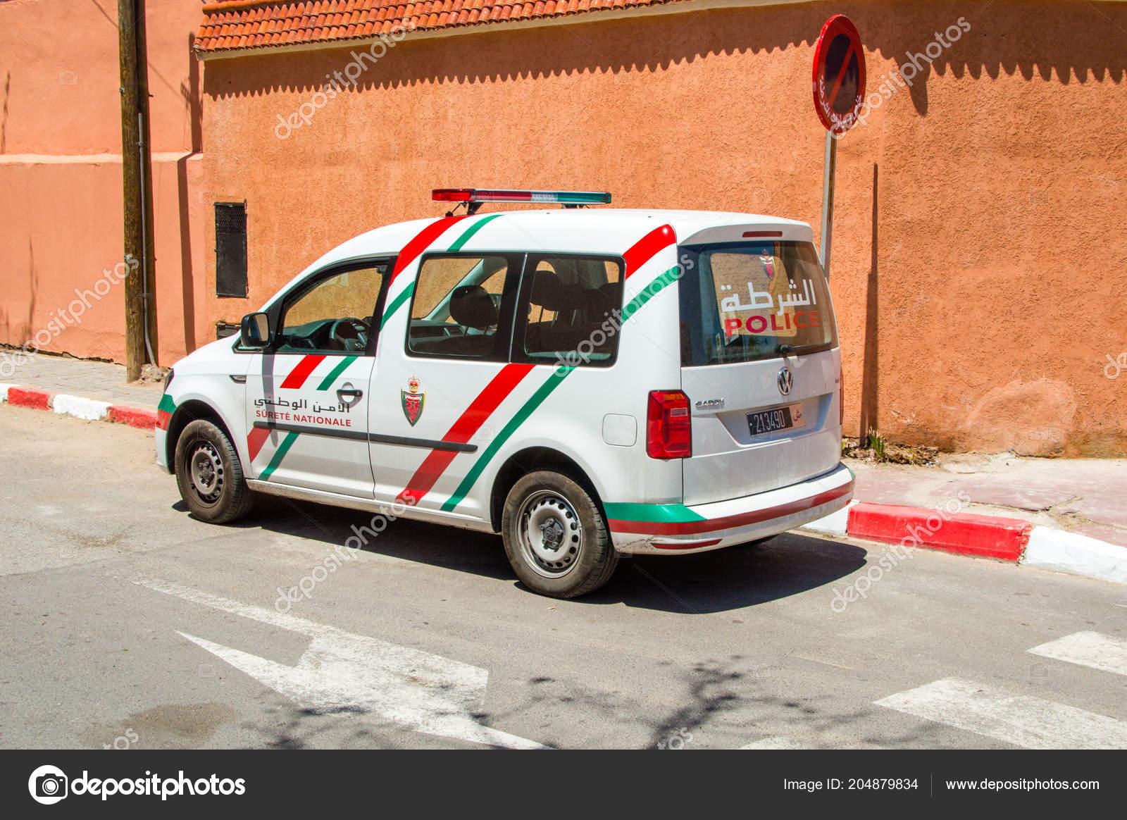 Marrakech Morocco June 2018 Car Marrocan Police Volkswagen Caddy