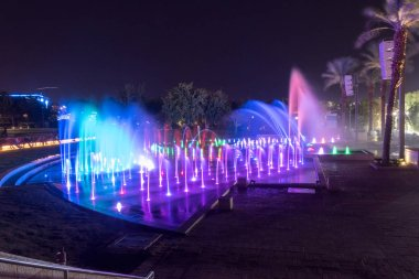 Musical Fountain at night.