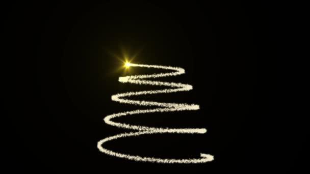 weiß animierter Weihnachtsbaum mit schwarzem Hintergrund