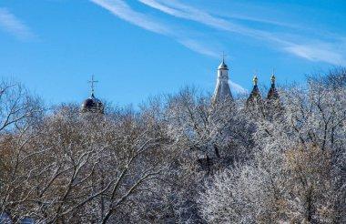 SERPUKHOV, RUSSIA - February, 2019:  Vvedensky Vladychny convent