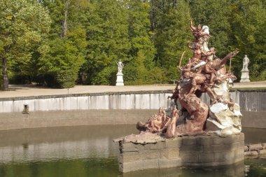andromeda la granja de san ettiler il Segovia, İspanya Kraliyet Sarayı bahçesinde adanmış Çeşme yatay görünüm