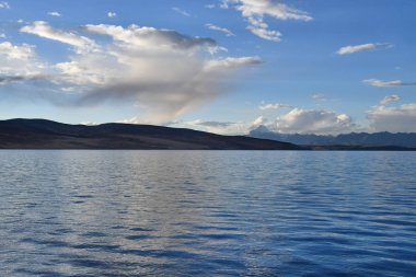 China, Tibet, the sacred lake for Buddhists Manasarovar in summer