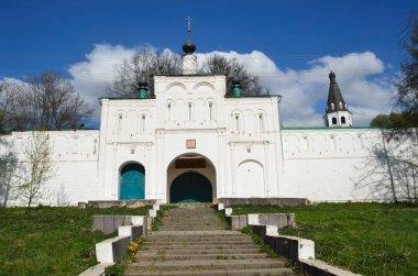 The Church of the GreatMartyr Theodore Stratelates (Gateway Church) with Nikon's building, Aleksandrovskaya Sloboda, Alexandrov city, Golden ring of Russia
