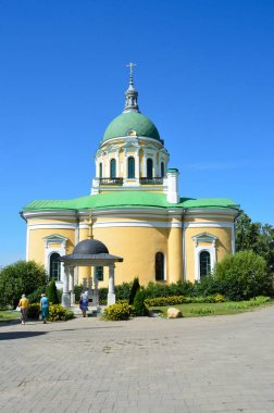 Cathedral of the beheading of John the Baptist in Zaraysk Kremlin in summer Sunny day
