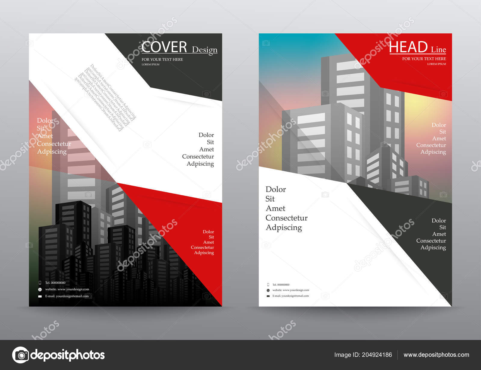 annual report brochure flyer design layout template size leaflet