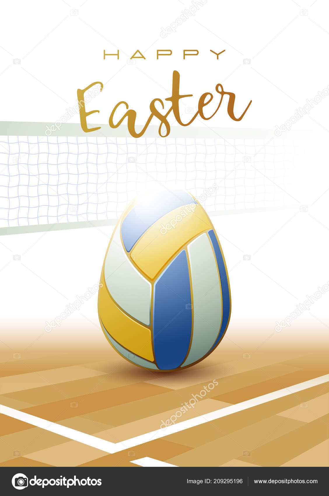 graphic regarding Printable Volleyball titled Printable volleyball Pleased Easter Athletics Greeting Card