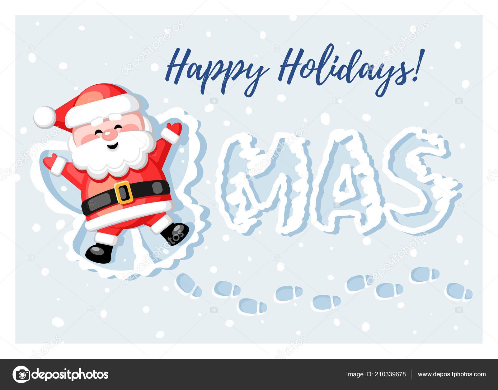 Merry Christmas Santa Claus Gift Present Christmas Snow