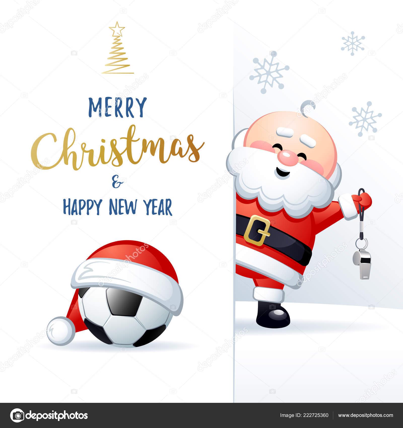 Картинки по запросу с рождеством футбольная открытка