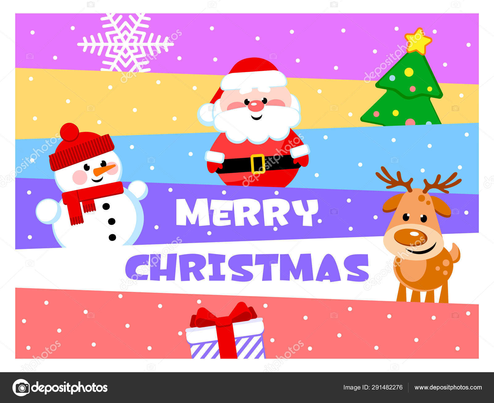 Merry Christmas Wishes Funny.Merry Christmas Greeting Card Funny Cartoon Characters Santa