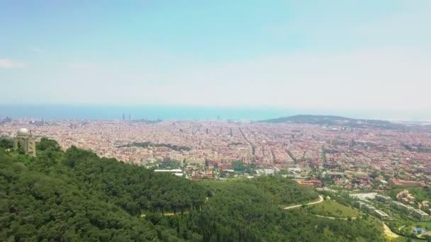 Barcelona Spainaerial pohled přes Barcelona