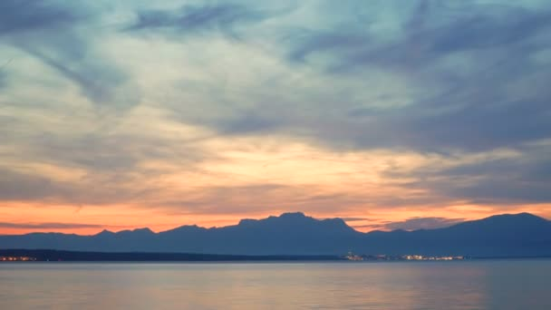 timelapse of amazing sunset of sea and sky in pollenca, mallora, spain